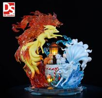 【Pre order】DS Studio Pokemon Fire and Ice Ninetales Family ​Resin Statue Deposit
