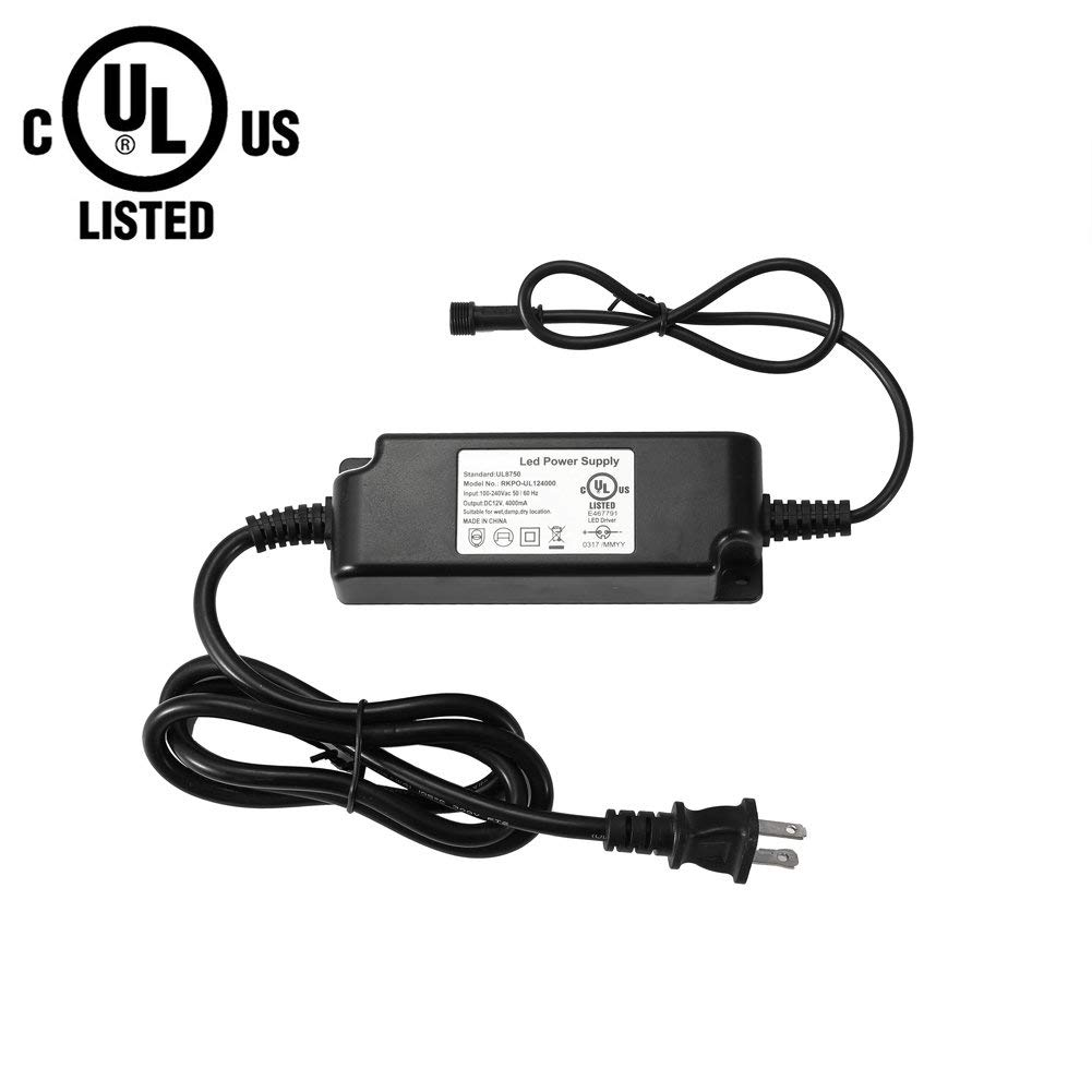Us 20 Fvtled Power Adapter Transformer Supply Ul Listed 12v Plug Wiring Harness Ul8750 Dc 30w For Led Deck Lights Kit Item No Y0064
