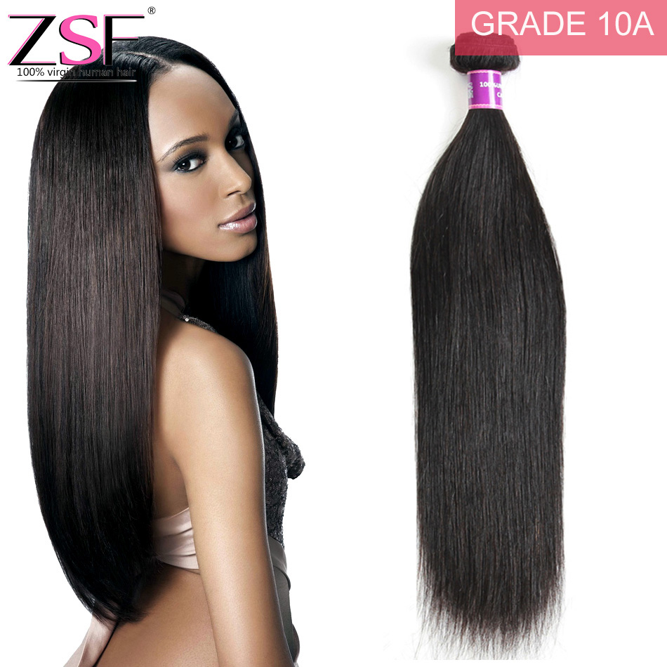 10a Straight Human Hair 1 Piece Hair Weave Bundles 8 30inch Natural