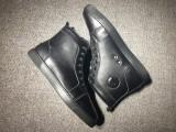 Red Bottom Sneaker Chrisitan Louboutin Leather Black Sneaker
