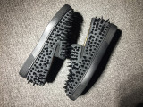 Red Bottom Sneaker Christian Louboutin Flat Spikes Grey Suede Boat Shoes