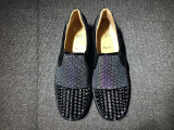 red bottoms for men sneakers Christian Louboutin Flat Boat Shoes