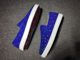 Louboutin for man sneakers Christian Louboutin Blue Flat Boat Shoes