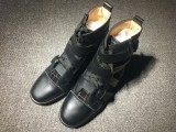 red bottoms mens Christian Louboutin Leather High Top Sneakers
