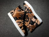 red bottom boots for men Christian Louboutin leopard print High Top Sneakers