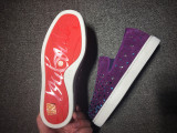 red bottoms for men sneakers Christian Louboutin Flat Purple Suede Strass Boat shoes
