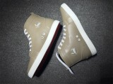 red bottom boots for men Christian Louboutin Leather High Top Sneakers