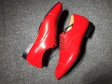 loafers for men Christian Louboutin Loafer Red Patent Leather Men Shoes