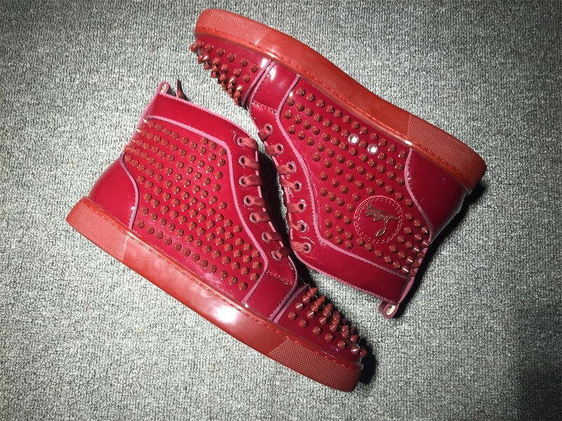 red bottoms sneakers