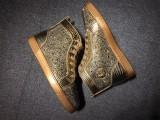 louboutins men Christian Louboutin Gold Men Shoes