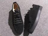 Christian Louboutin Black Low Top Junior Shoes