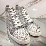 Christian Louboutin With Spikes Men Shoes Louis Pik Pik Flat