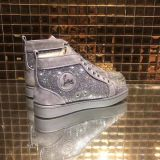 Christian Louboutin High Top Flats Suede Men Sneakers