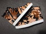 Christian Louboutin Leopard Print High Top Flats Men Sneakers