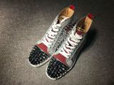 Christian Louboutin No Limit F18 High Top Silver Spikes Men Shoes