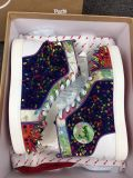 Christian Louboutin High Top Colorful Pik Pik Spikes Men Shoes