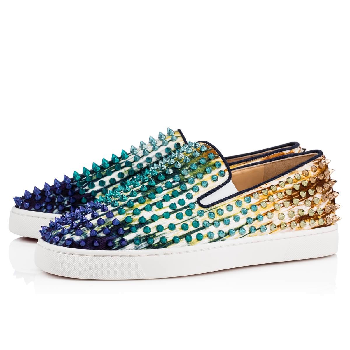 ... sale louboutin for man sneakers christian louboutin flat spike boat  shoes item no 726340 63b45 a8e39