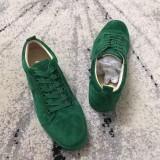 Christian Louboutin Sneaker Low Top Junior Green Suede Shoes