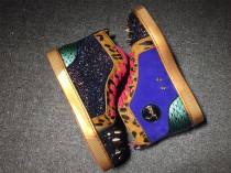 Christian Louboutin High Leopard Print WIth Strass Spikes Men Shoes