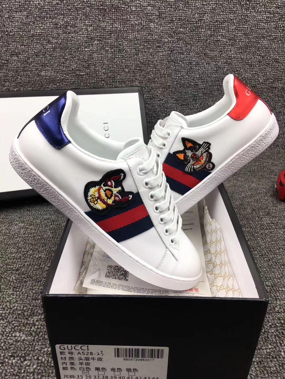 men - GG dog white ace shoes