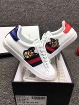 GG dog white ace shoes
