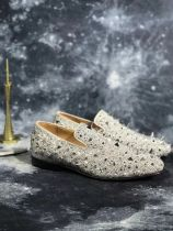 loafers for men Christian Louboutin Loafer White Spikes Men Shoes