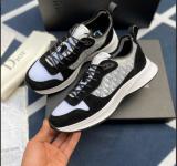 dior sneaker shoes B25 Dior Oblique Runner Sneaker in Black Suede