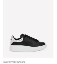 Alexander McQueen Shoes Oversized Sneaker black withe