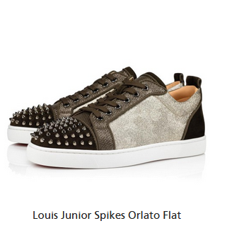 christian louboutin Louis Junior Spikes Orlato Flat Sneaker