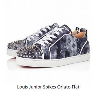 christian louboutin Louis Junior Spikes Orlato Flat Sneaker