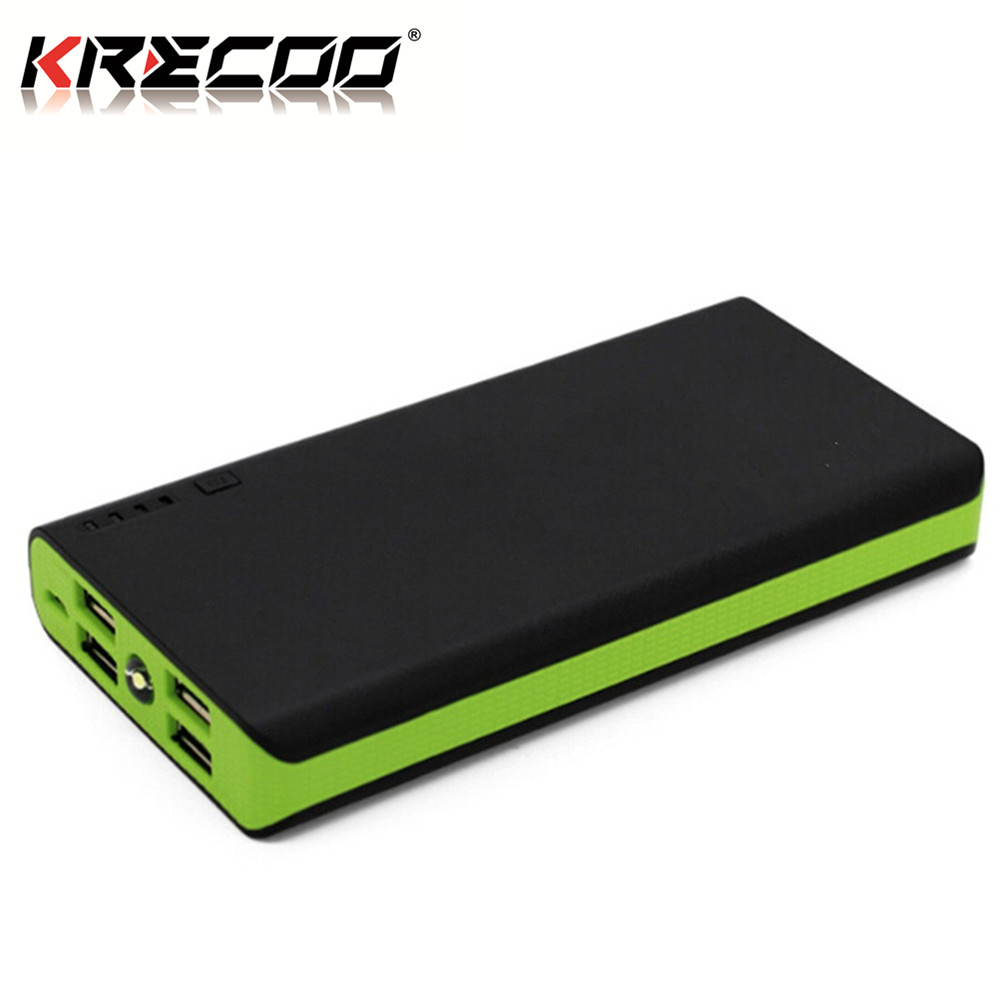Krecoo Portable Bank 20000mah External Battery Pack High Capacity Outdoor Charger With 4 Usb Port Charge For Iphone Ipad Samsung Galaxy More Item