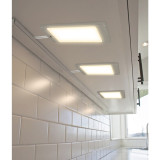 LED Under and Inside Cabinet Panel Lights Cupboard Lamps with Touchless Hand Sensor Switch, 3X 5W LED Lamps and DC12V Hardwired Connection with Power Adapter, Neutral White Lighting 4000K