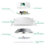 14W LED Recessed Downlights Kitchen Bathroom Recessed LED Ceiling Lights Cool White 5000K Cut Φ120-140MM AC100~240V IP44 Dampproof
