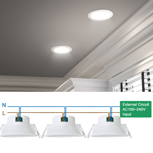 14w Led Recessed Downlights Kitchen Bathroom Recessed Led Ceiling Lights Cool White 5000k Cut F120 140mm Ac100 240v Ip44 Dampproof 3 Pack By Enuotek