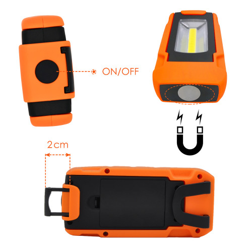 COB LED hand lamp for workshop with Battery