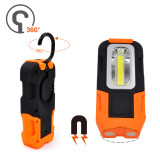 Battery Operated Foldable Magnetic 3W COB LED Work Light Portable LED Torch Light with Hook