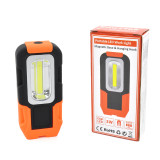 Battery Powered Portable 3W COB LED Work Light Magnetic Foldable LED Inspection Lamp with Hook
