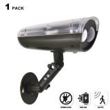 Outdoor Solar Powered Motion Sensor 3W LED Security Wall Spotlight Garage Door Spot Light Cool White Lighting 6000K High Brightness 250Lm Dusk to Dawn PIR Motion Sensor