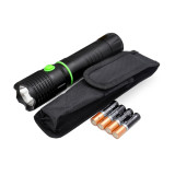 Aluminum Telescopic CREE LED Torch Flashlight Retractable COB LED Work Light with Magnetic Base 4x AAA Batteries Included