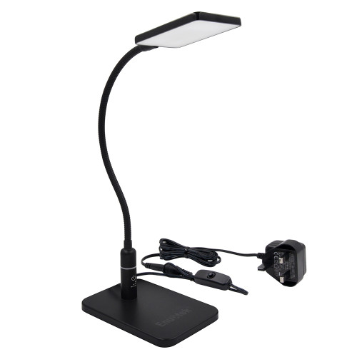 Touch Dimmable Black LED Desk Lamp Flexible Metal LED Table Reading Light Bedside Lamp, Energy Saving 5W LED, Eye Care Daylight Lighting 5000K