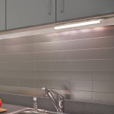 Connectible T5 5W LED Kitchen Under Cabinet Lamp Under Cupboard Light Tube Neutral White 4000K Length 313MM with American Power Plug Replace T5 Fluorescent Light Fixture Pack of 1 Lamp