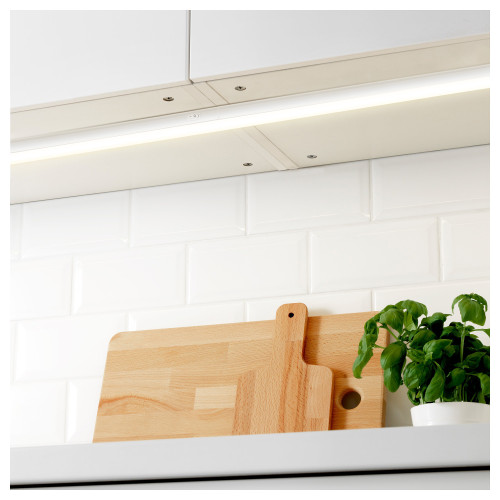 Connectible Hardwired 9W Kitchen LED Lighting Bars Under Cabinet Hard Strip Lamps 4000K Neutral White Lamp Length 573MM with American Power Plug Pack of 2 Lamps