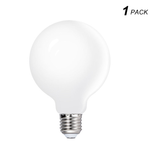 G95 LED Big Globe Light Bulbs E27 Edison Energy Saving Lamps 6W Cool White Omnidirectional Lighting 5000K with Glass Lamp Shade for Ceiling Pendant Lamps 1 Pack