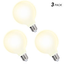 G95 Large Globe Edison E27 LED Energy Saving Light Bulbs 6W Omnidirectional Warm White Lighting 3000K with Glass Lamp Shade Replace 60W Incandescent Lamps 3 Pack