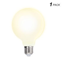 G95 Edison E27 LED Big Globe Energy Efficient Light Bulb 6W Omnidirectional Warm White Lighting 3000K with Glass Lamp Shade for Pendant Ceiling Lamps 1 Pack