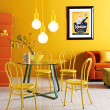 Yellow Decorative LED Hanging Ceiling Pendant Light Fixture G95 LED Big Globe Light Bulb Included 6W Warm White Lighting Length Maximum 168CM 1 Lamp and 1 LED Bulb