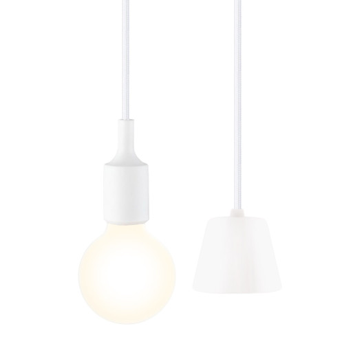 White Kids Room LED Ceiling Hanging Pendant Light Fixture with G95 LED Globe Light Bulb Warm White Lighting Maximum 168CM Adjustable Height 1 Lamp and 1 LED Bulb