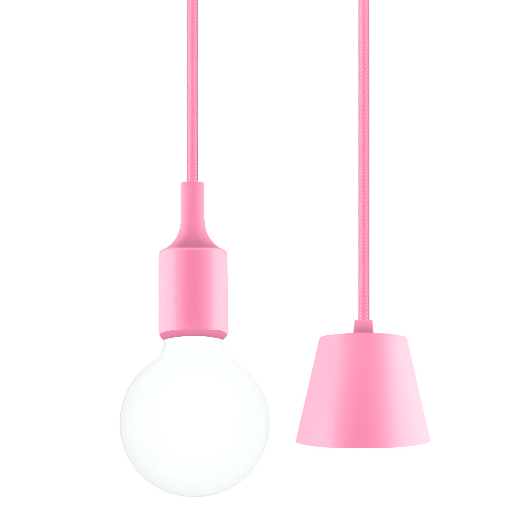 Pink Led Ceiling Hanging Pendant Light Fixture With G95 Globe Bulb Cool White Lighting Maximum 168cm Adjule Height 1 Lamp And Item