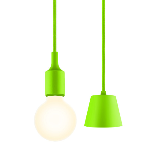 Green Multi LED Pendant Hanging Light Lamp Kit with G95 LED Globe Light Bulb Warm White Lighting Maximum 168CM Adjustable Height 1 Lamp and 1 LED Bulb