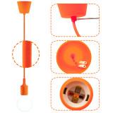 Orange Decorative LED Drop Ceiling Hanging Light Fixture with G95 LED Big Globe Light Bulb 6W Warm White Lighting Maximum 168CM Adjustable Height 1 Lamp and 1 LED Bulb